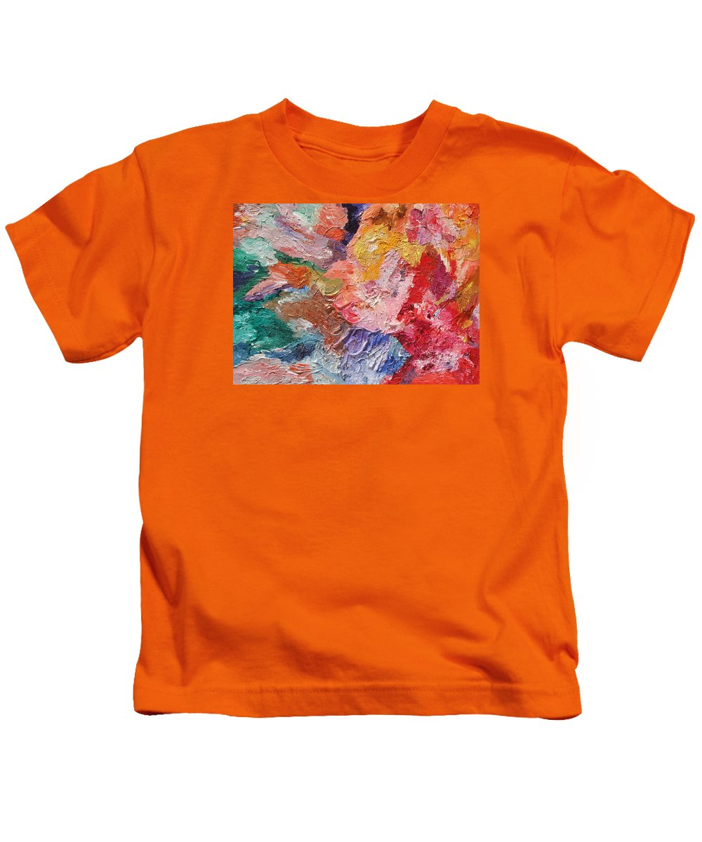 Fusionart Kids T-Shirt featuring the painting Birth Of Passion by Ralph White