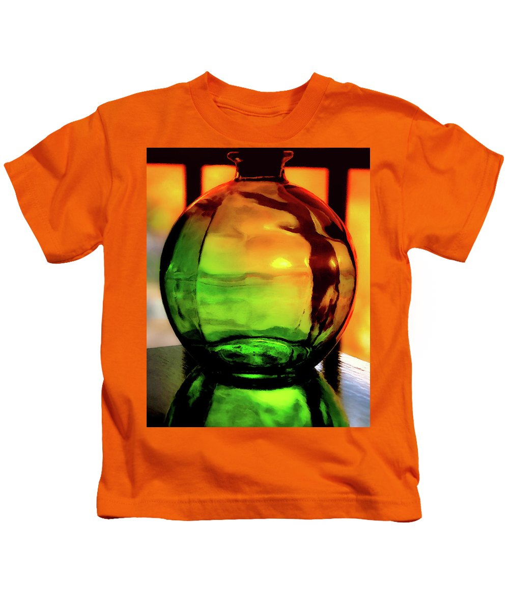 Bottle Kids T-Shirt featuring the photograph Bottle Of Sunlight by Stephen Anderson