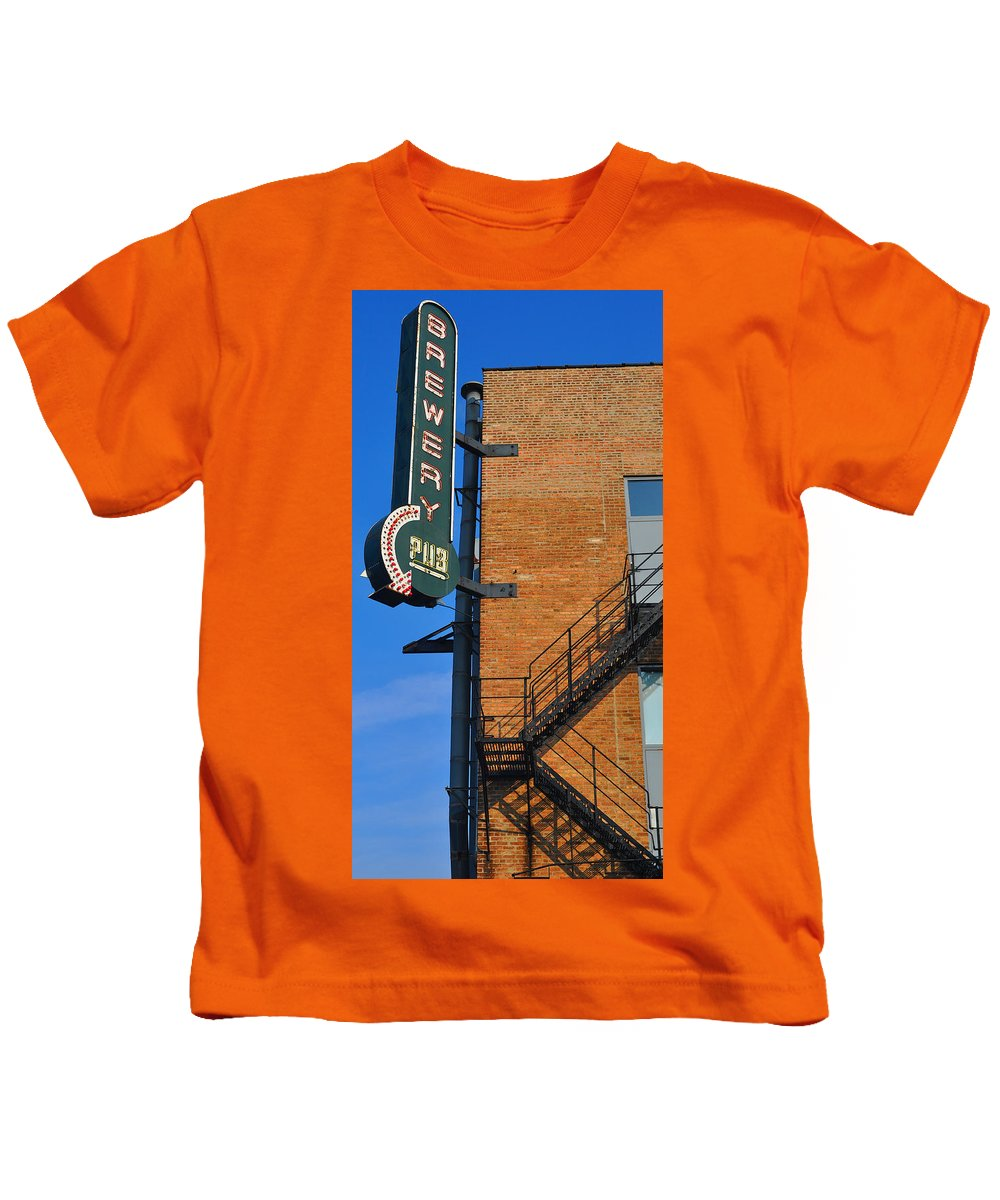 Chicago Kids T-Shirt featuring the photograph Brewery Pub by Tim Nyberg