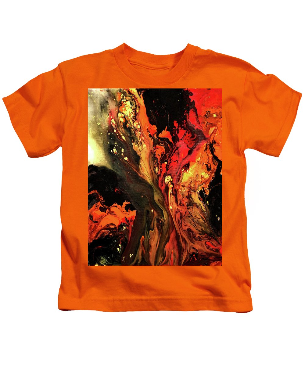 Kids T-Shirt featuring the painting Burning Desire by Destiny Womack