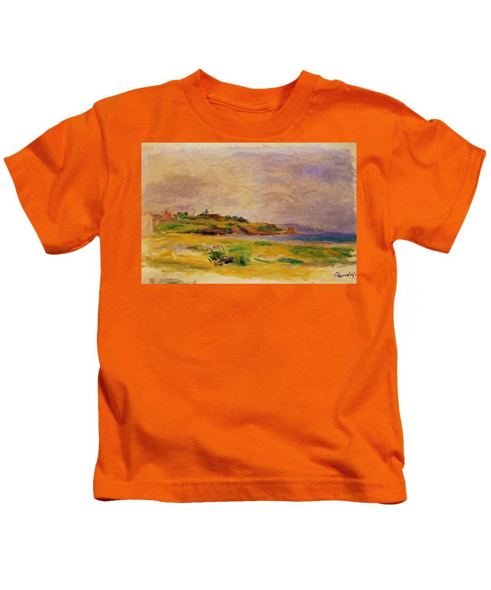 Cagnes Kids T-Shirt featuring the painting Cagnes Landscape 1910 2 by Renoir PierreAuguste