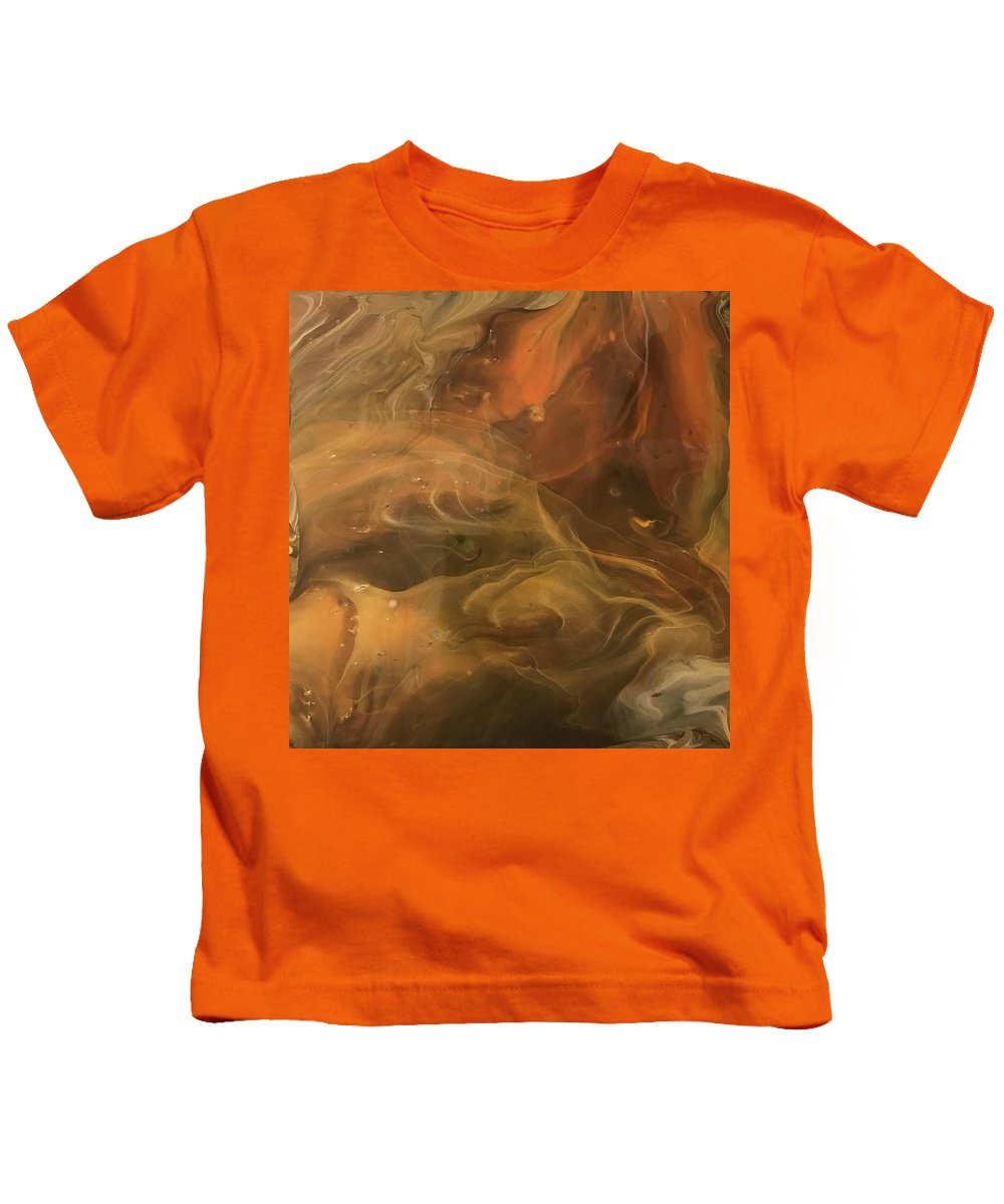 Acrylic Kids T-Shirt featuring the painting Caramel Cream by A Billings