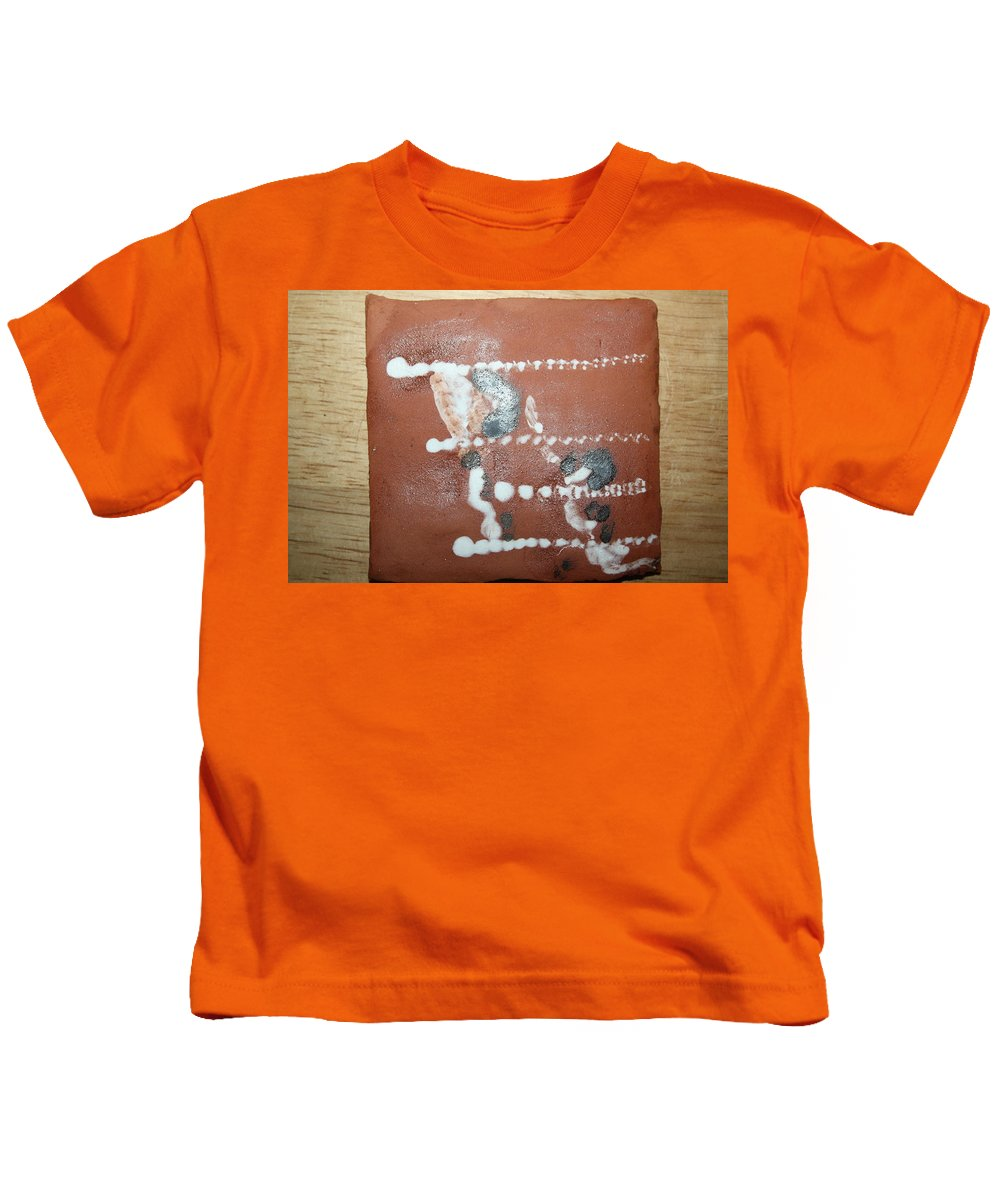 Jesus Kids T-Shirt featuring the ceramic art Celia And Brian - Tile by Gloria Ssali