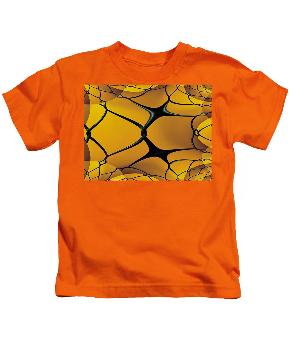 Chain Link Kids T-Shirt featuring the photograph Chain Link Fractal by Tim Allen