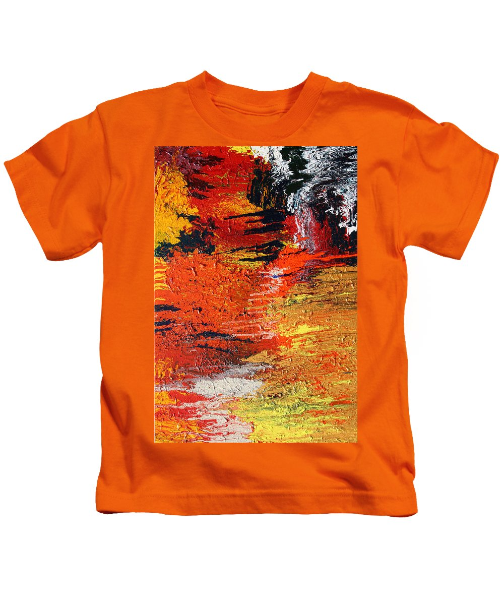Fusionart Kids T-Shirt featuring the painting Chasm by Ralph White
