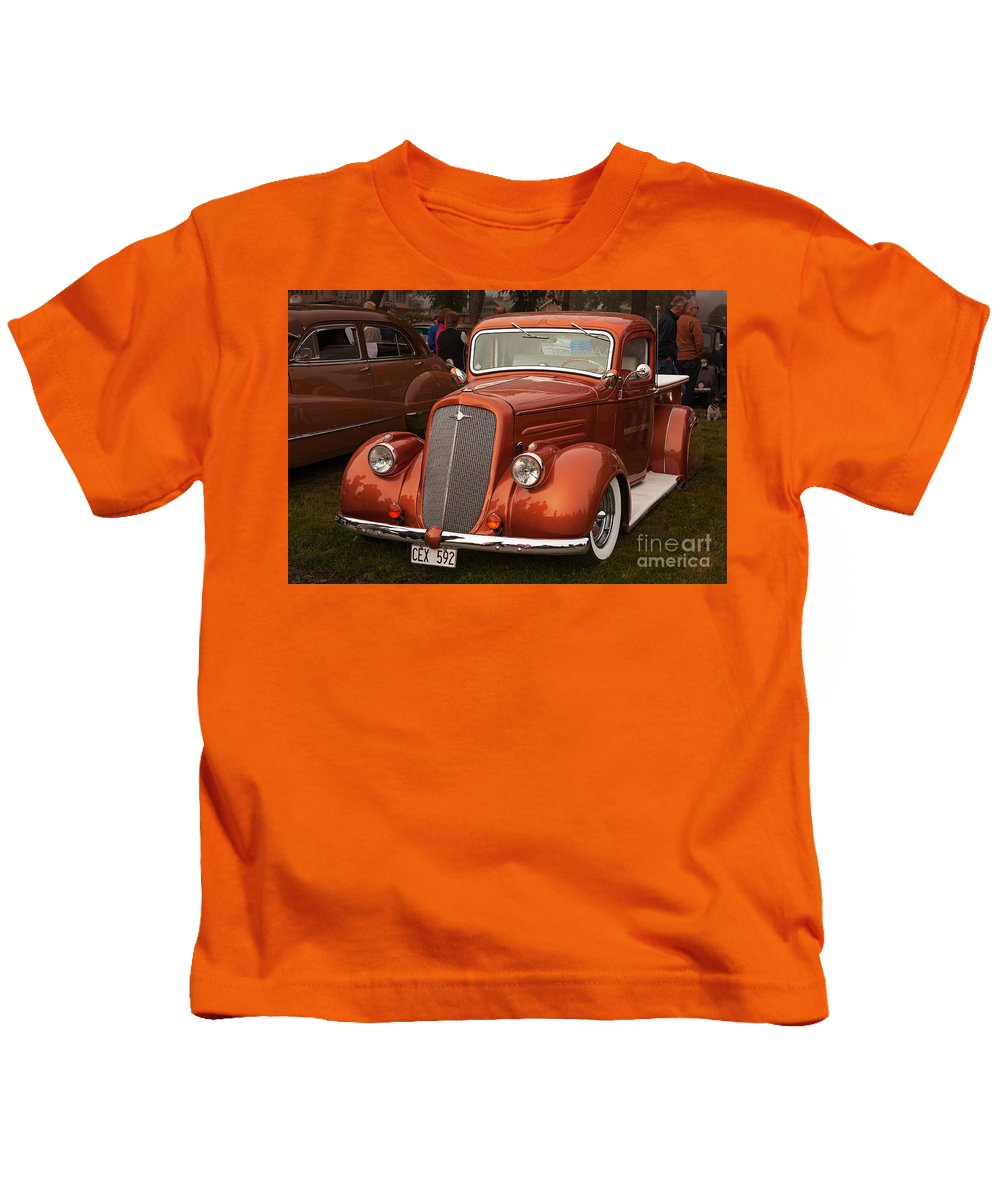Restoration Kids T-Shirt featuring the photograph Chevrolet 1936 by Allan Wallberg