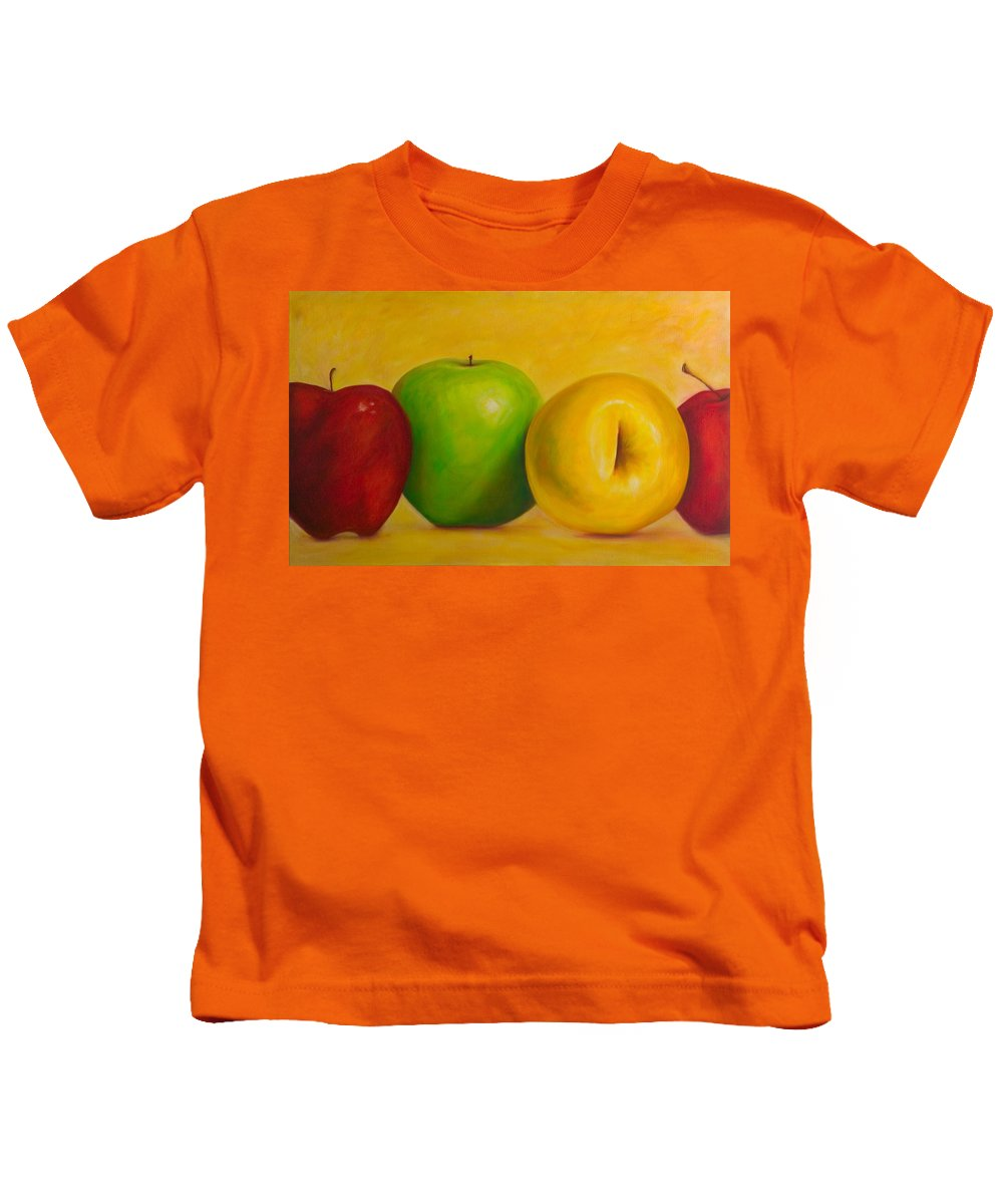 Still Life Kids T-Shirt featuring the painting Chorus Line by Shannon Grissom
