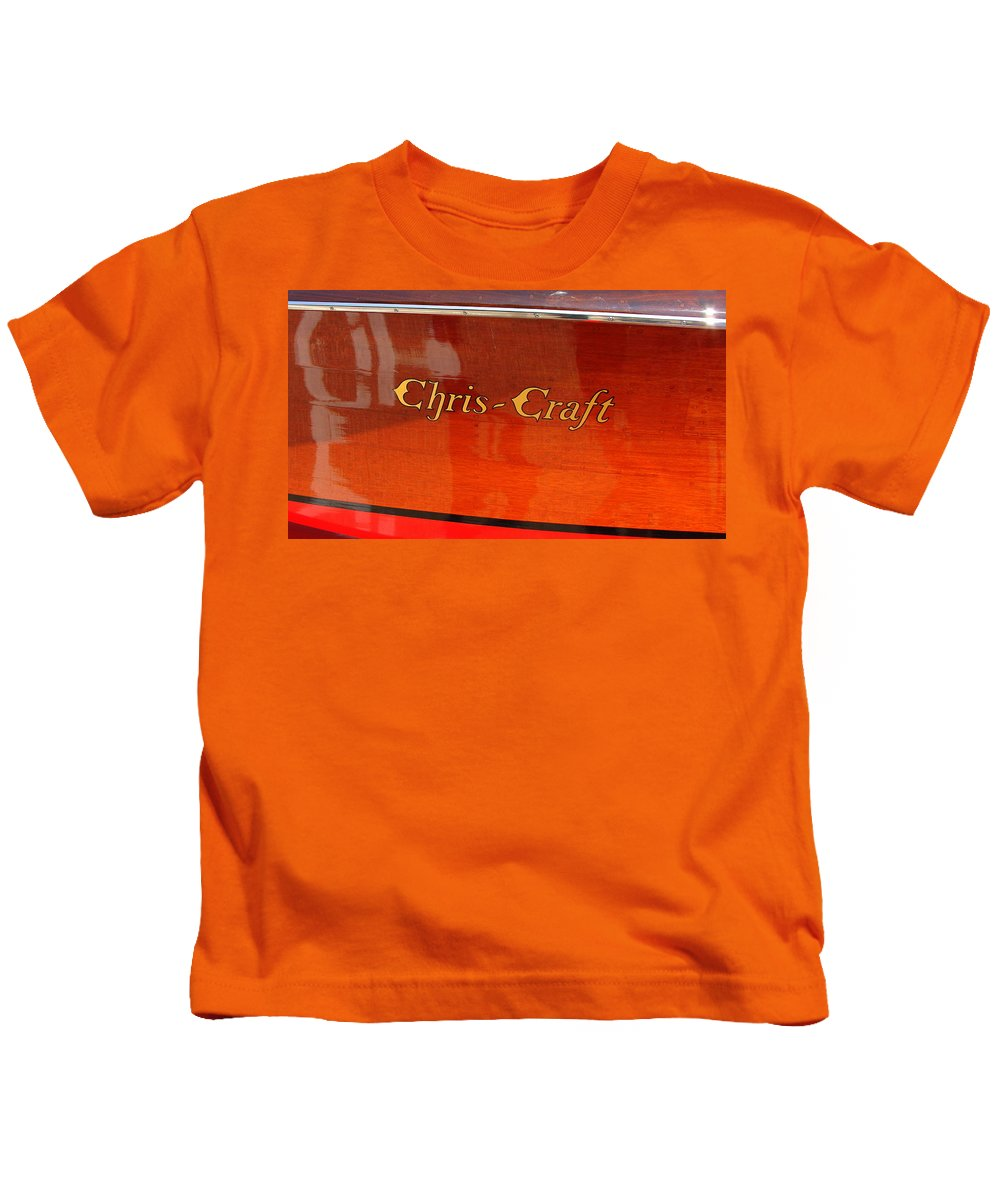 Logo Kids T-Shirt featuring the photograph Chris Craft Logo by Michelle Calkins