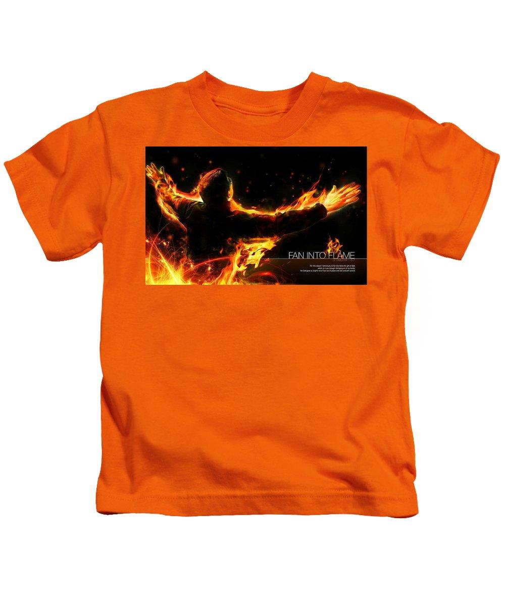 Christian Kids T-Shirt featuring the digital art Christian by Dorothy Binder