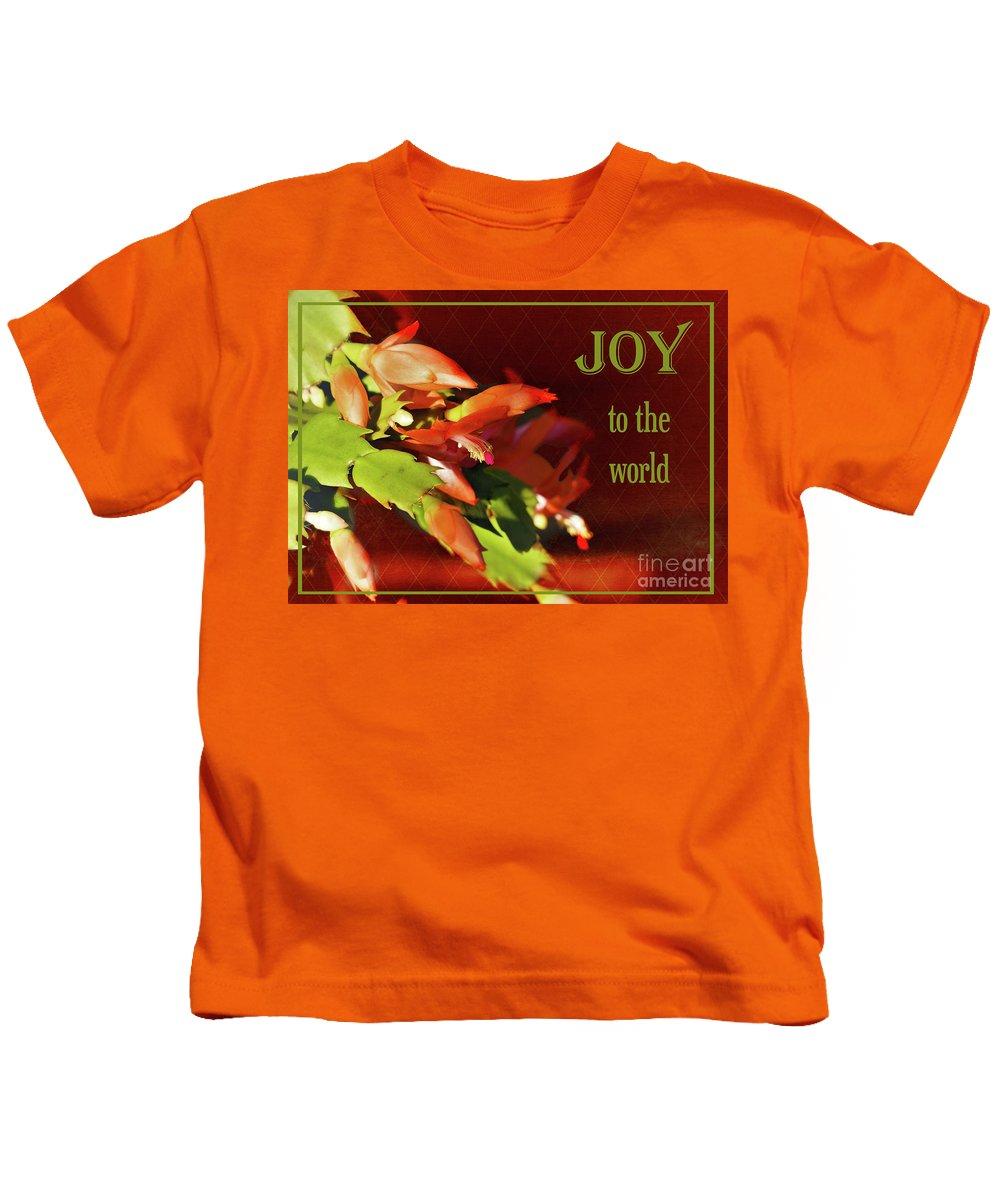 Cactus Kids T-Shirt featuring the photograph Christmas Joy by Karen Beasley