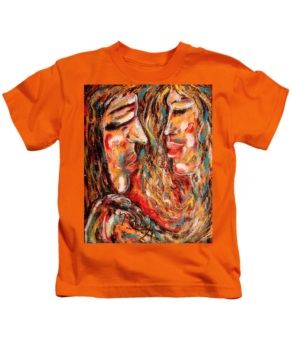 Romantic Kids T-Shirt featuring the painting Close Encounter by Natalie Holland