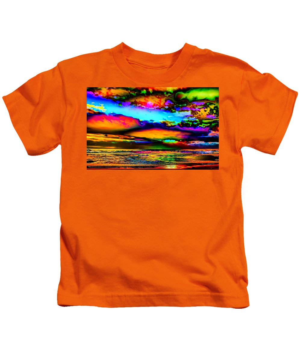 World's Kids T-Shirt featuring the digital art Clouds With Attitude by Ron Fleishman