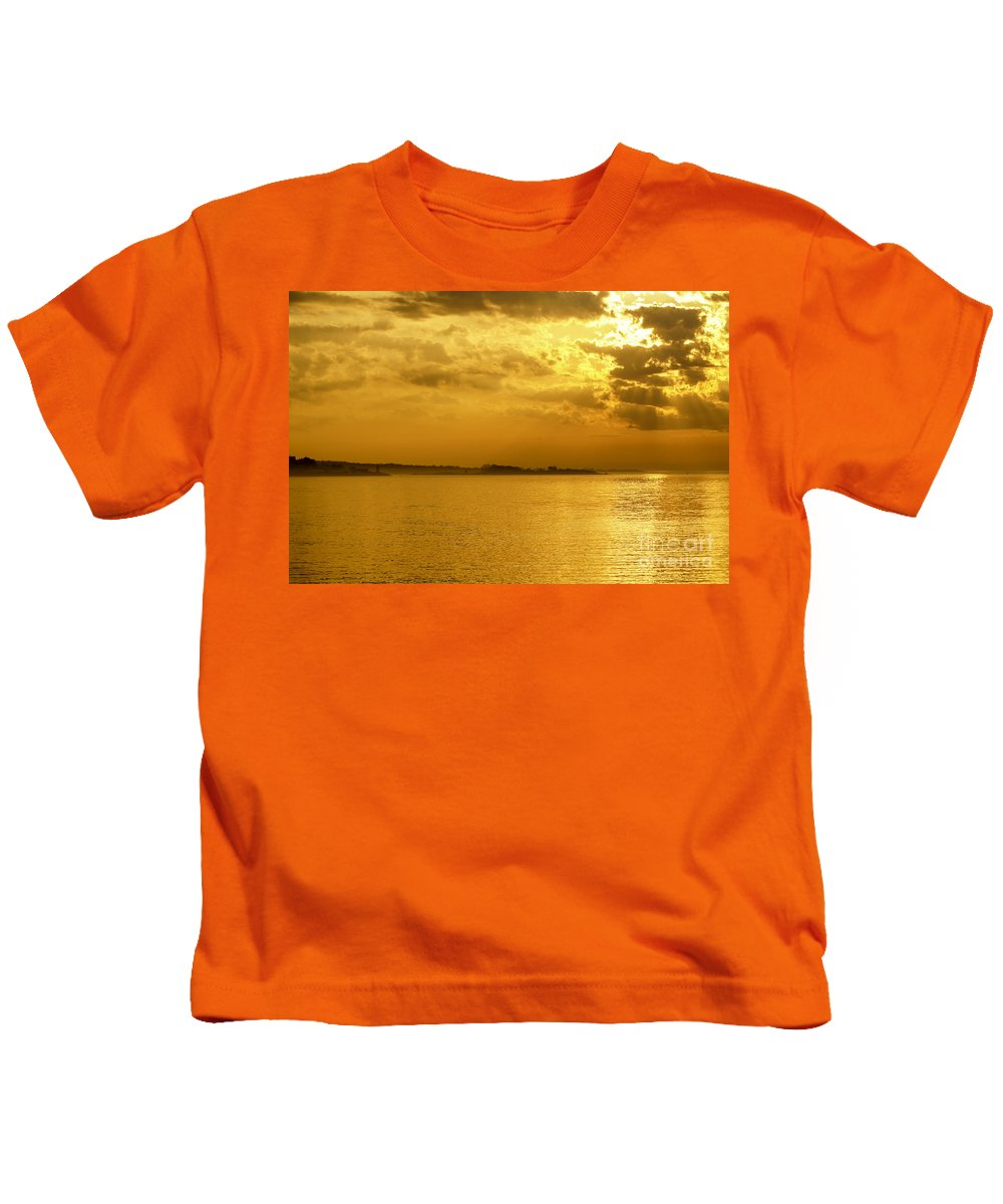 Altered Kids T-Shirt featuring the photograph Coastal Sunrise by Joe Geraci
