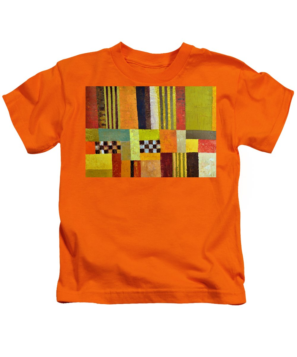 Colorful Kids T-Shirt featuring the painting Color And Pattern Abstract by Michelle Calkins
