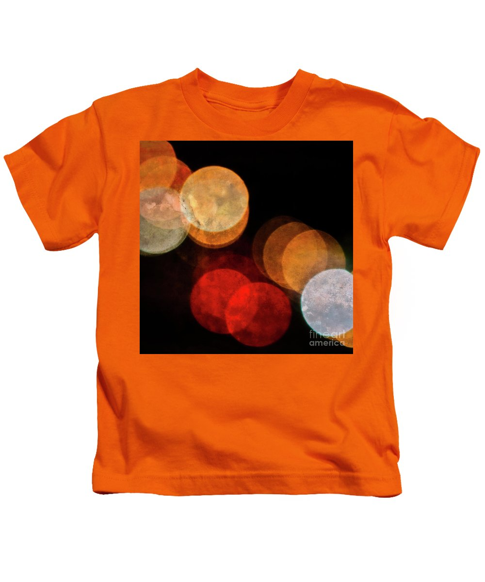 Colored Moons Kids T-Shirt featuring the photograph Colored Moons 3 by Doug Sturgess