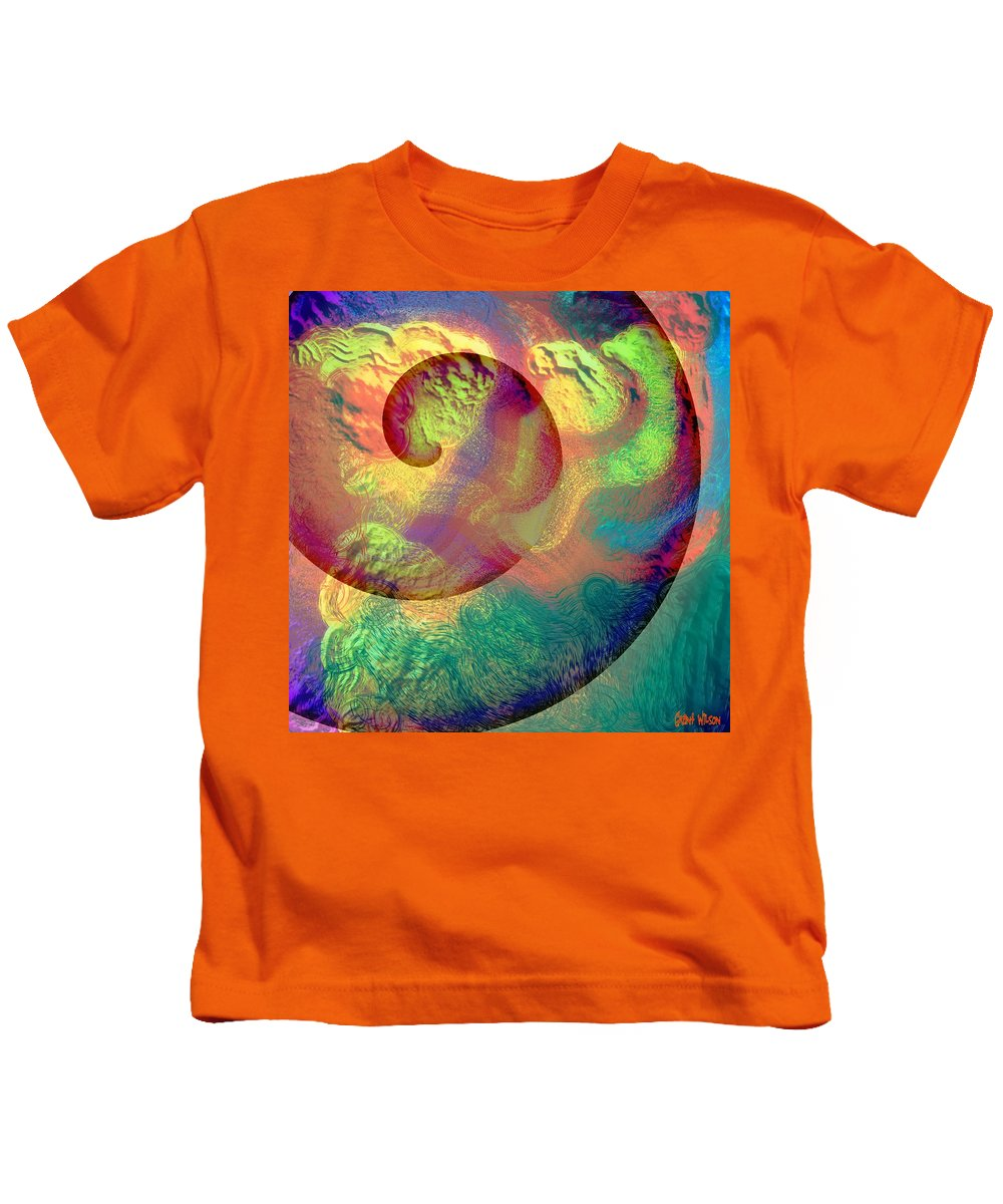 Abstract Kids T-Shirt featuring the digital art Colour Spiral by Grant Wilson