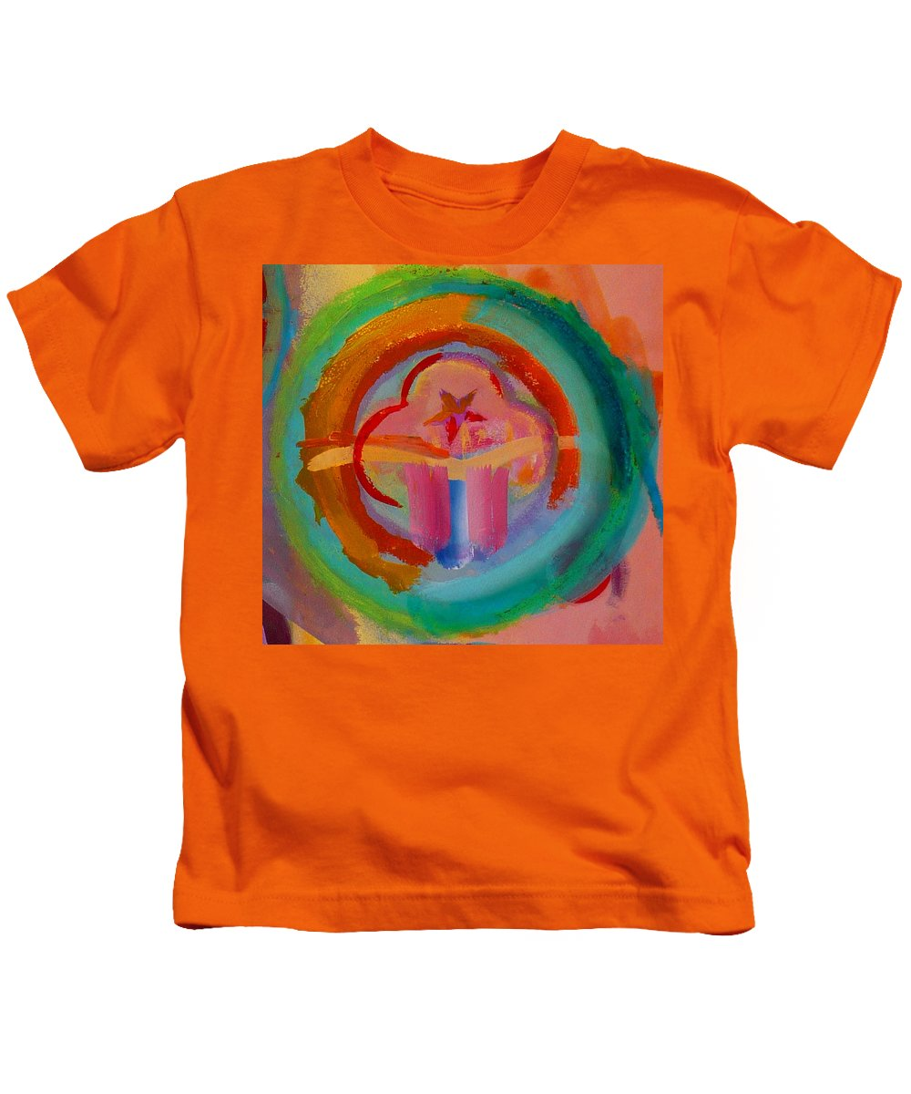 Logo Kids T-Shirt featuring the painting Colour States by Charles Stuart