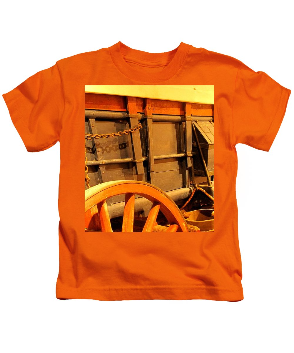Conestoga Kids T-Shirt featuring the photograph Conestoga by Ian MacDonald