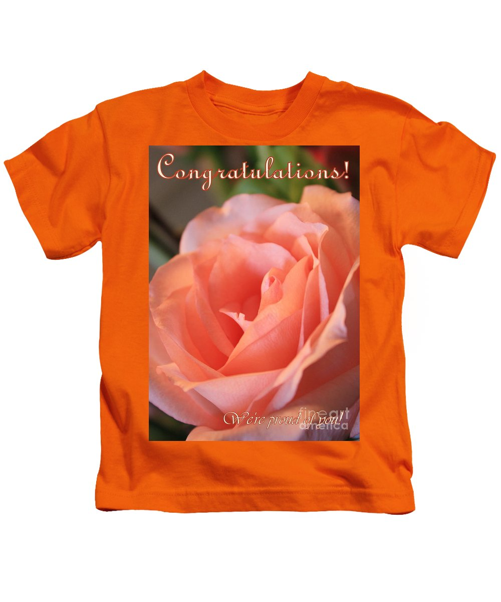 Congratulations Kids T-Shirt featuring the photograph Congratulations Card For Girl Or Woman by Carol Groenen