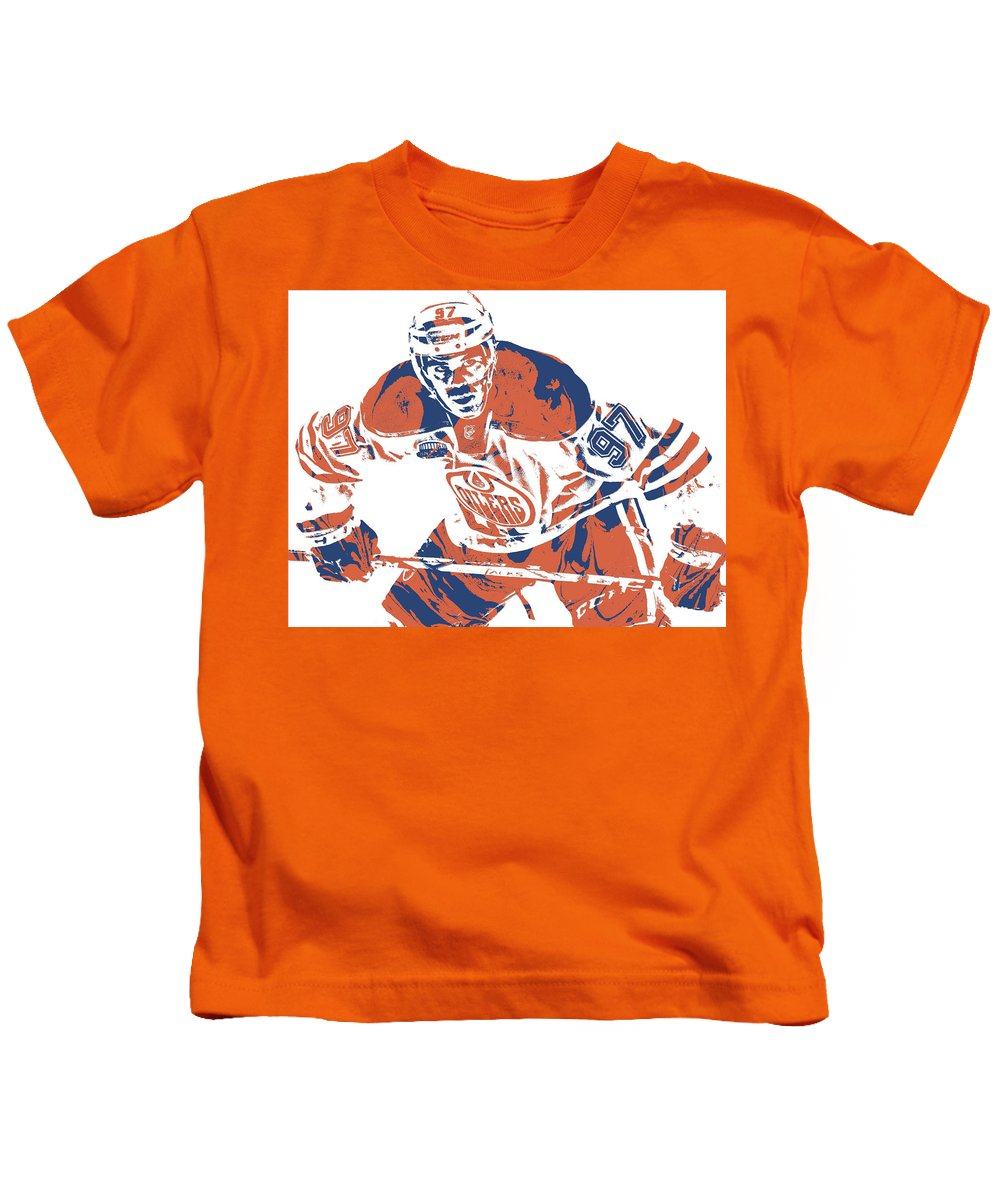 buy cheap 1c996 06924 Connor Mcdavid Edmonton Oilers Pixel Art 1 Kids T-Shirt