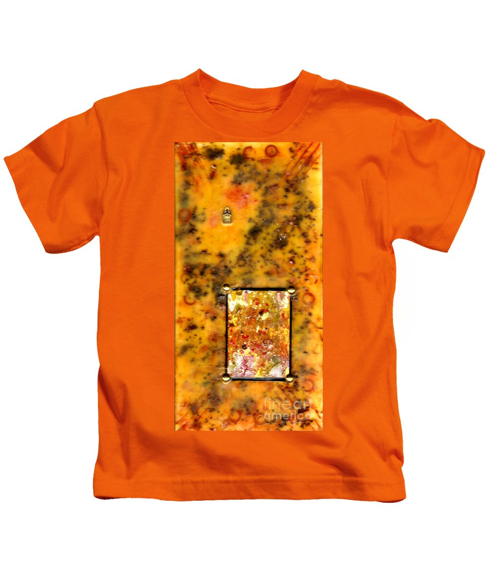 Wood Kids T-Shirt featuring the mixed media Crumpets With My Coffee Please by Angela L Walker