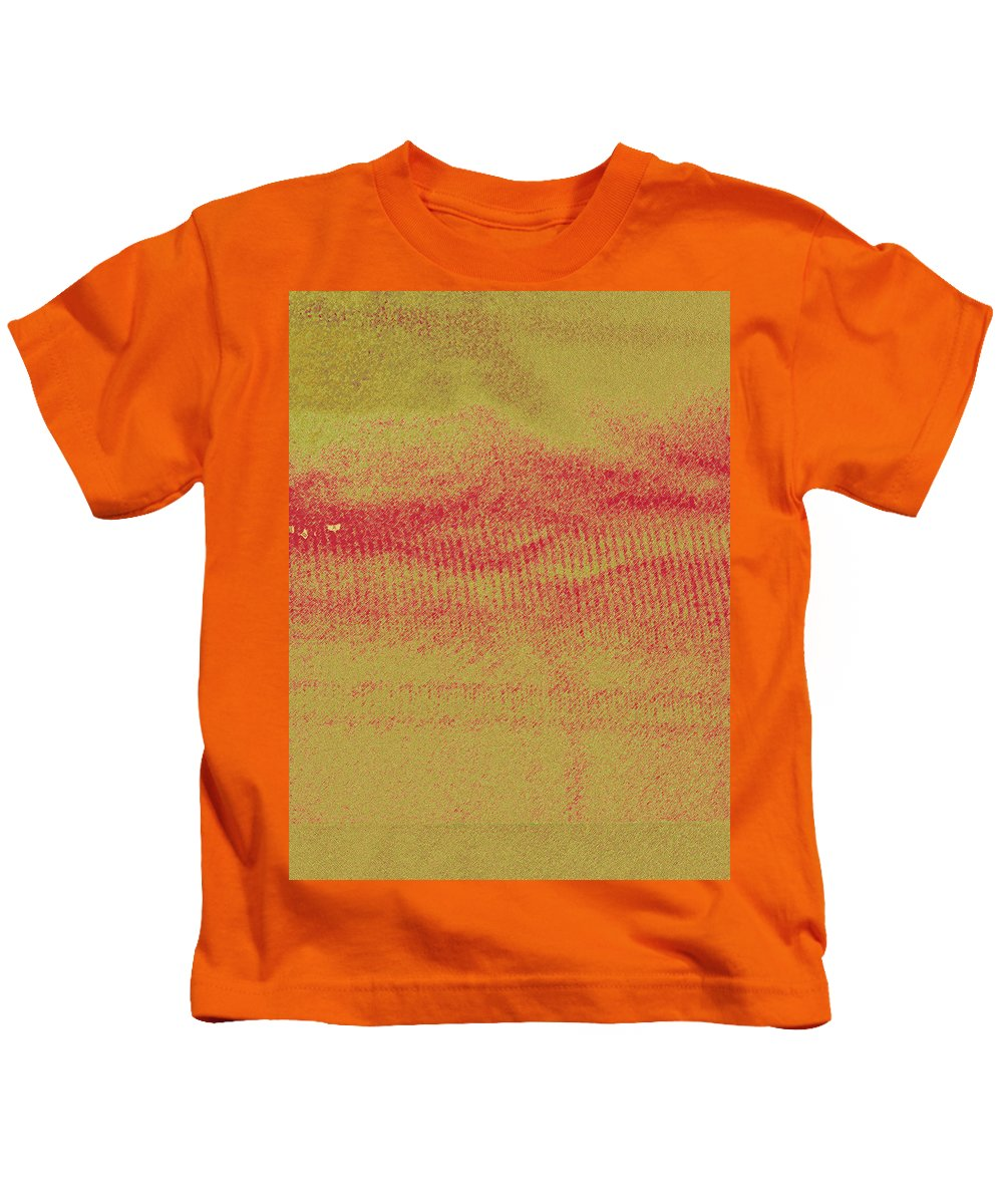 Abstract Kids T-Shirt featuring the photograph Curtain Abstract As Landscape 2 by Lenore Senior