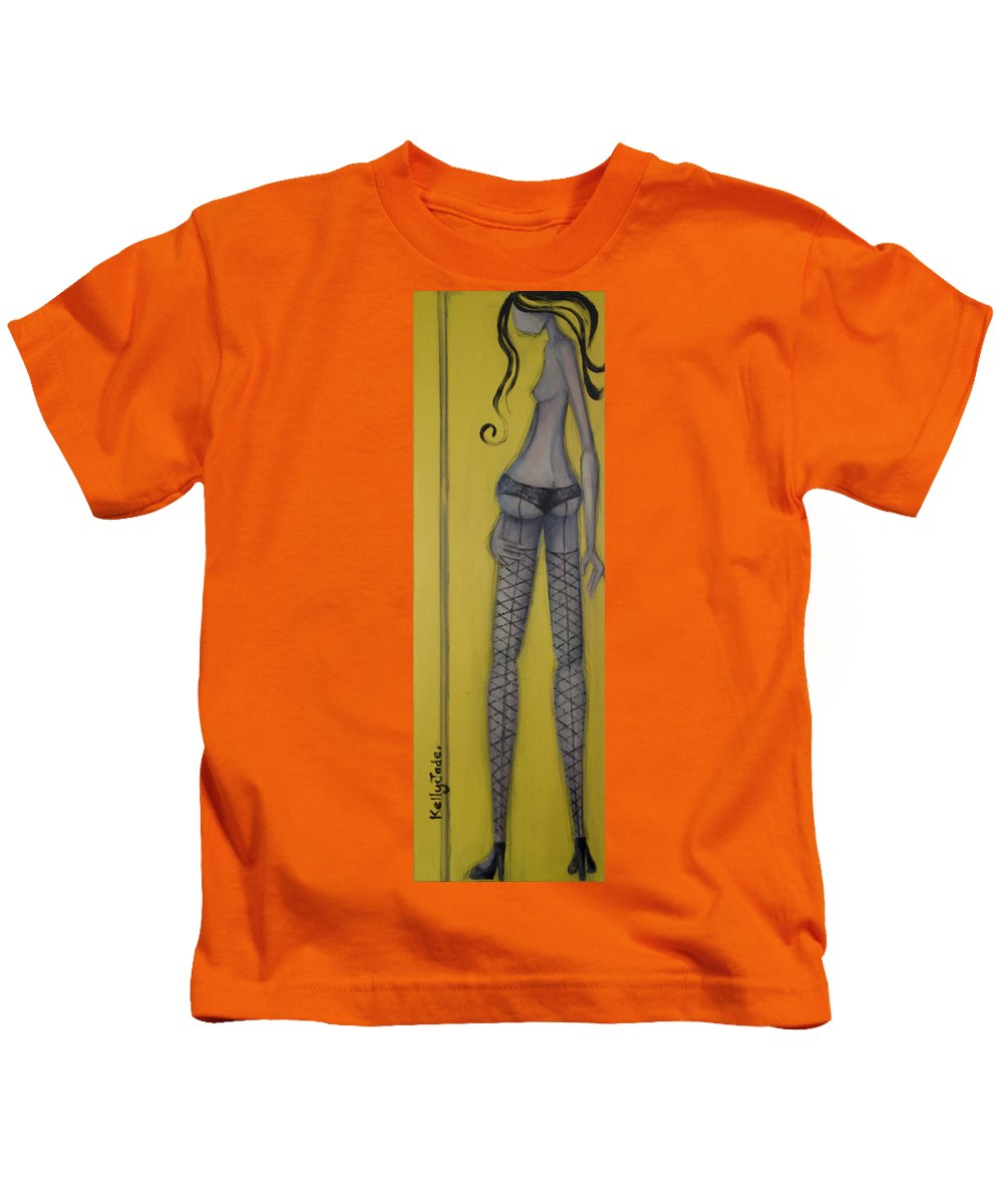 Dancer Kids T-Shirt featuring the painting Dancer by Kelly Jade King