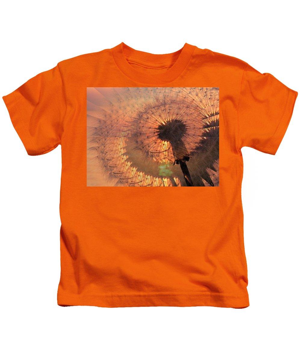 Dandilion Kids T-Shirt featuring the digital art Dandelion Illusion by Tim Allen