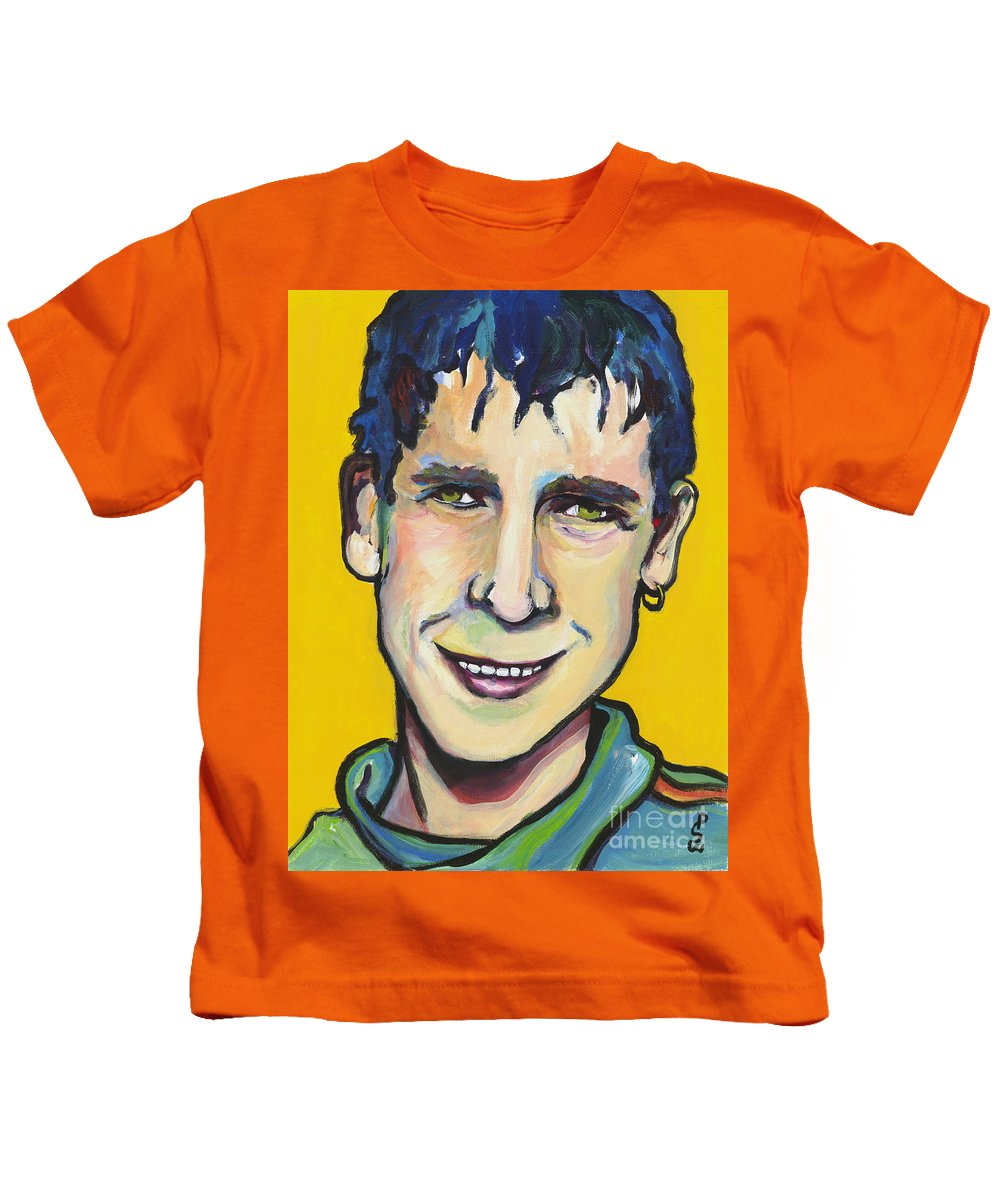 Portrait Kids T-Shirt featuring the painting Daniel by Pat Saunders-White