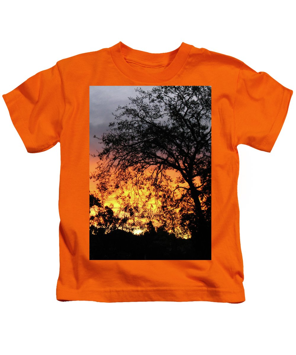 Sunset Kids T-Shirt featuring the photograph Day Is Done by Pauline Darrow