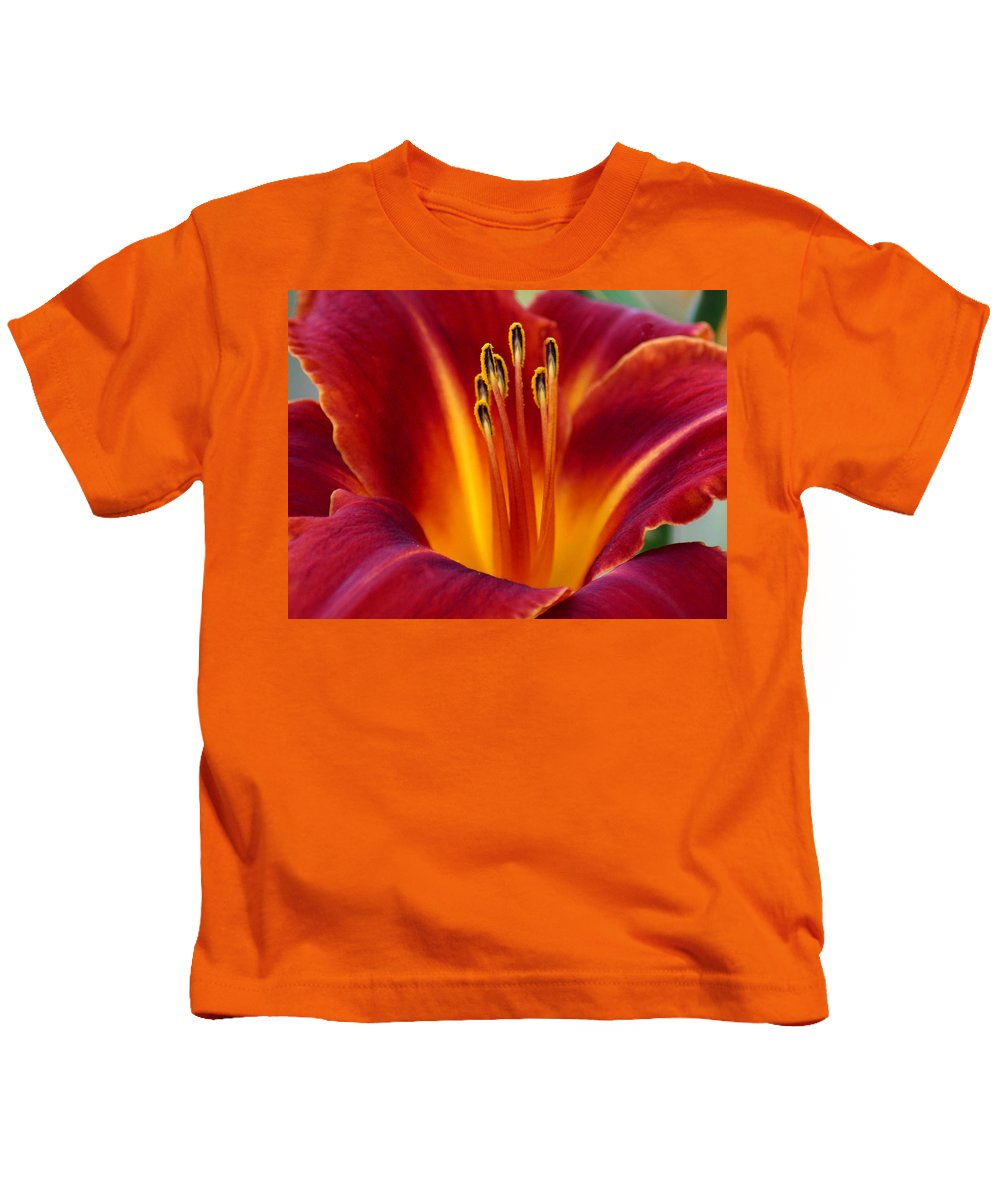 Lily Kids T-Shirt featuring the photograph Day Lily by Julie Jernegan