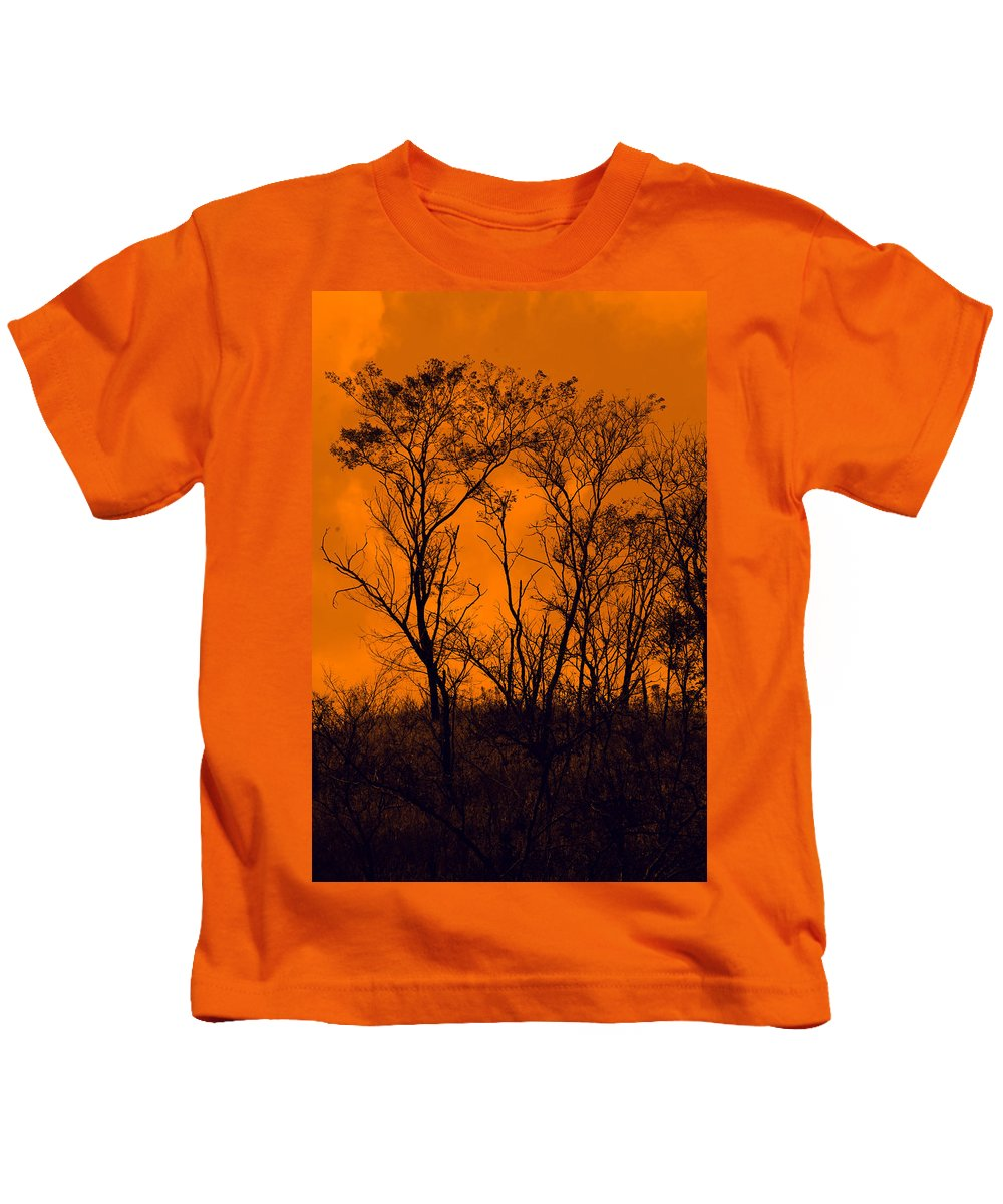 Orange Kids T-Shirt featuring the photograph Dead Tree by Galeria Trompiz