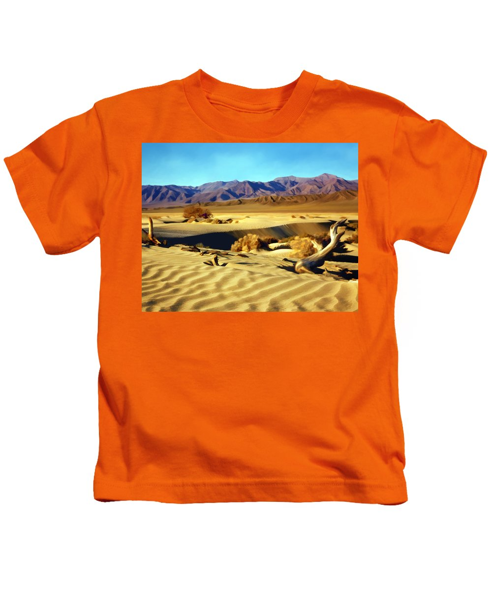 Death Valley Kids T-Shirt featuring the photograph Death Valley by Kurt Van Wagner