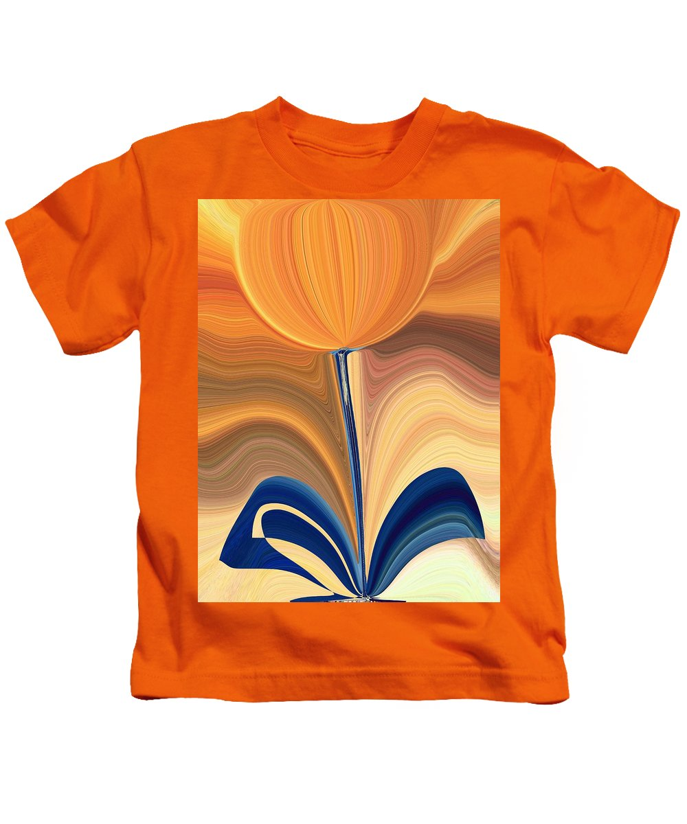 Bloom Kids T-Shirt featuring the digital art Delighted by Tim Allen