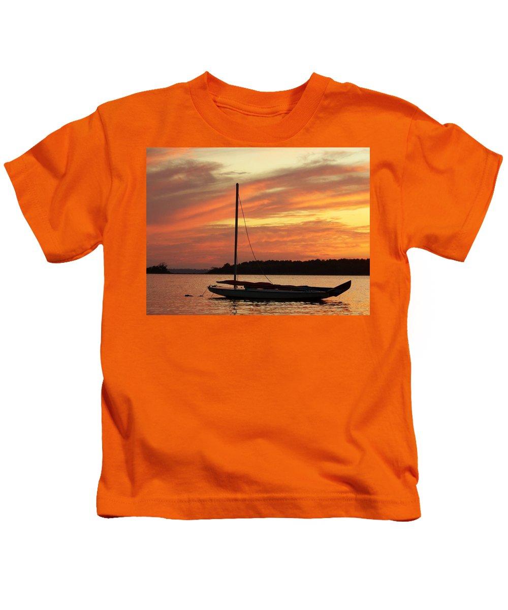 Beach Kids T-Shirt featuring the photograph Dewey Bay by Trish Tritz