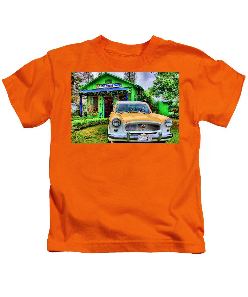 Lanai Kids T-Shirt featuring the photograph Dis N Dat by DJ Florek