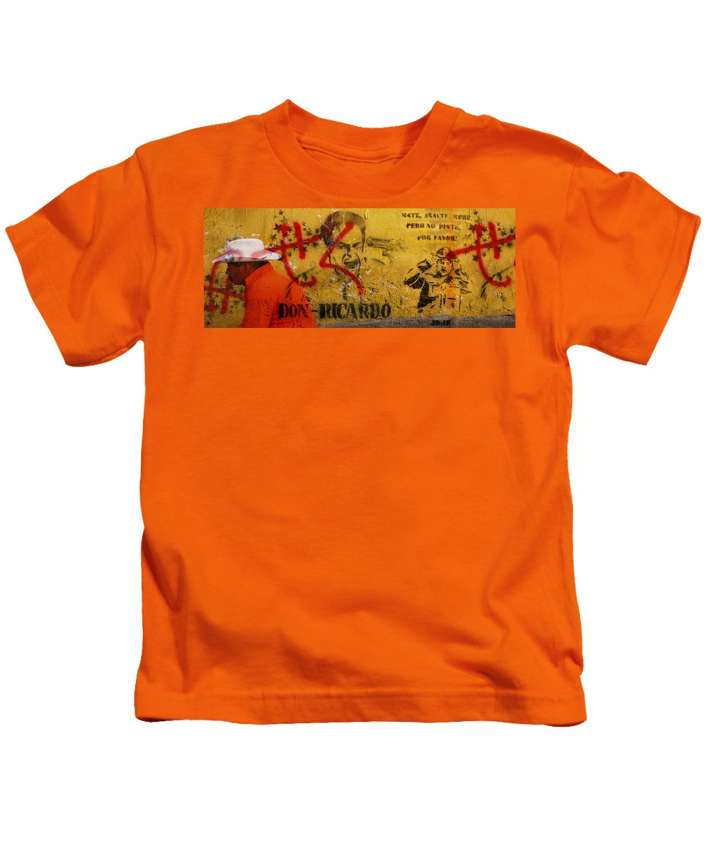 Grafitti Kids T-Shirt featuring the photograph Don-ricardo by Skip Hunt