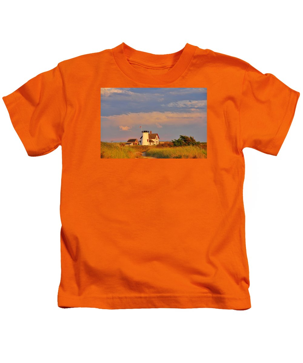 Chatham Kids T-Shirt featuring the photograph Dune Walk by Emily Sosa