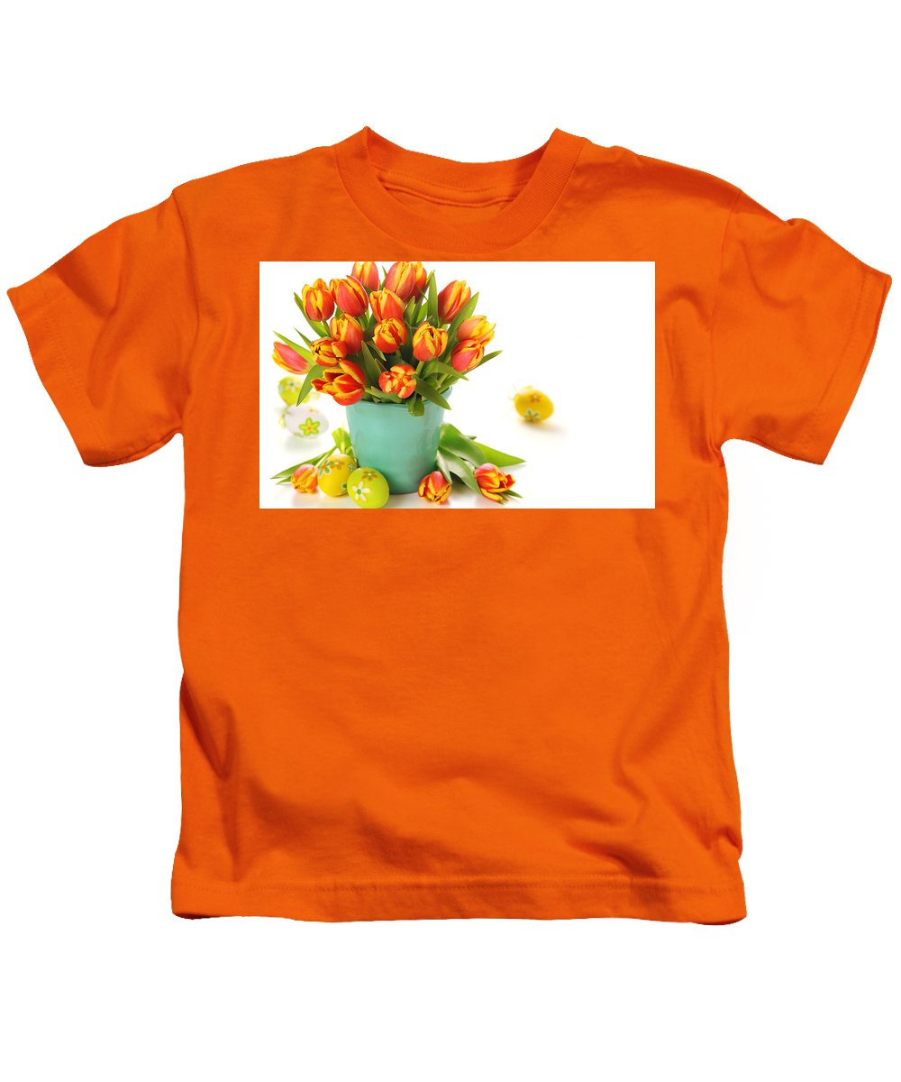 Easter Kids T-Shirt featuring the digital art Easter by Dorothy Binder
