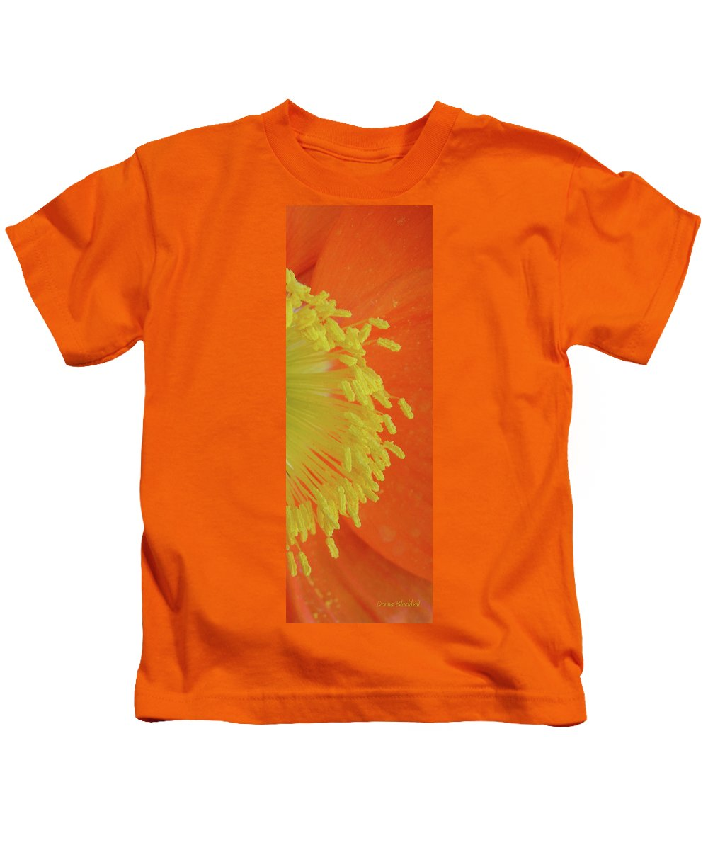 Poppy Kids T-Shirt featuring the photograph Edge Of The Sun by Donna Blackhall