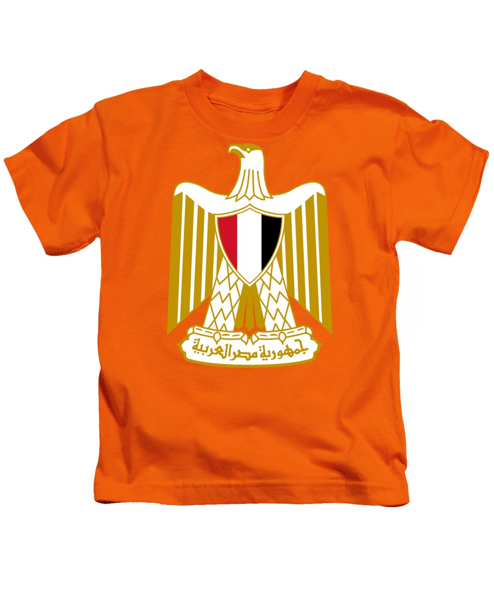 Egypt Kids T-Shirt featuring the drawing Egypt Coat Of Arms by Movie Poster Prints