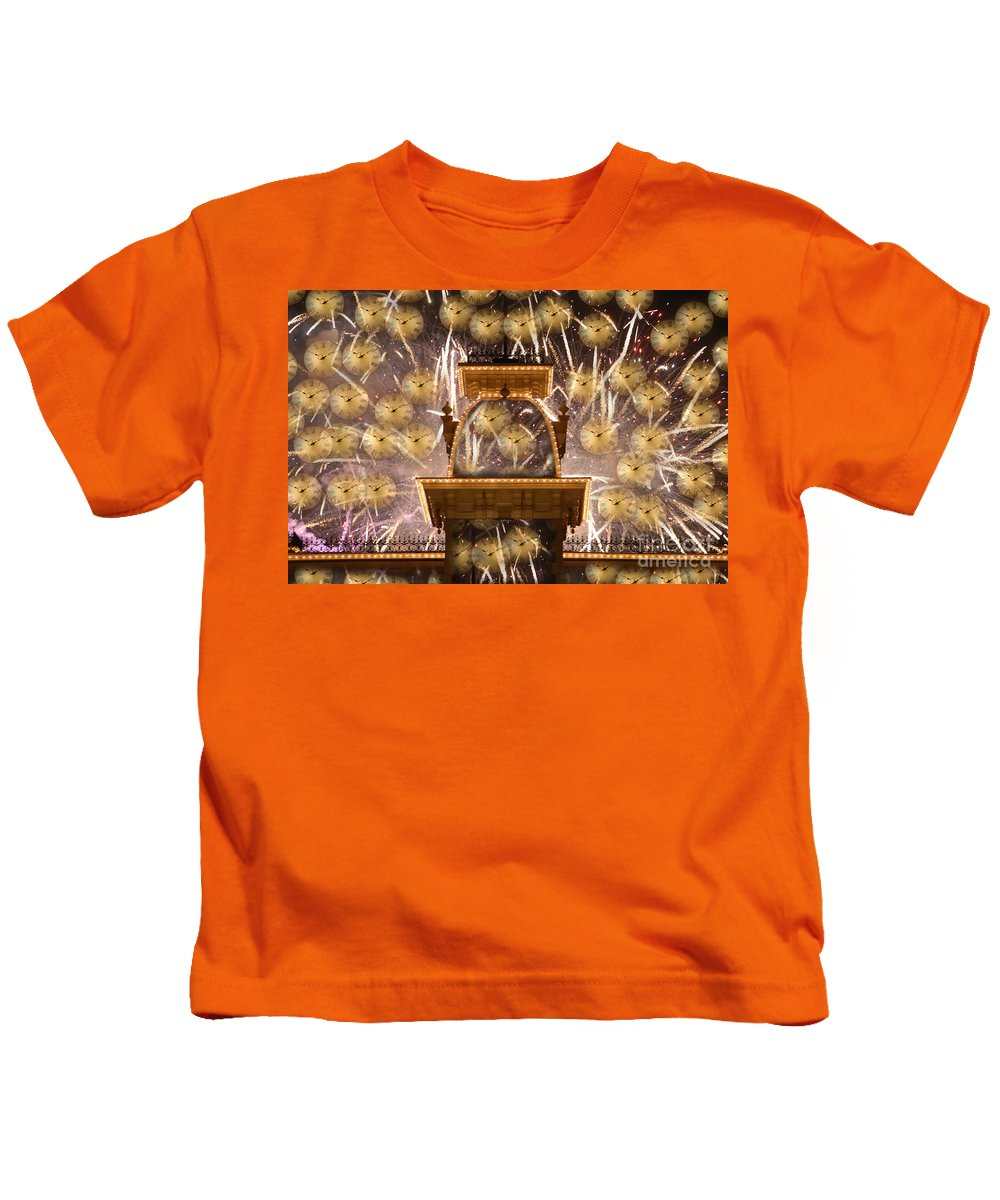 Art.clocks Kids T-Shirt featuring the photograph Einstein's Dream by David Lee Thompson