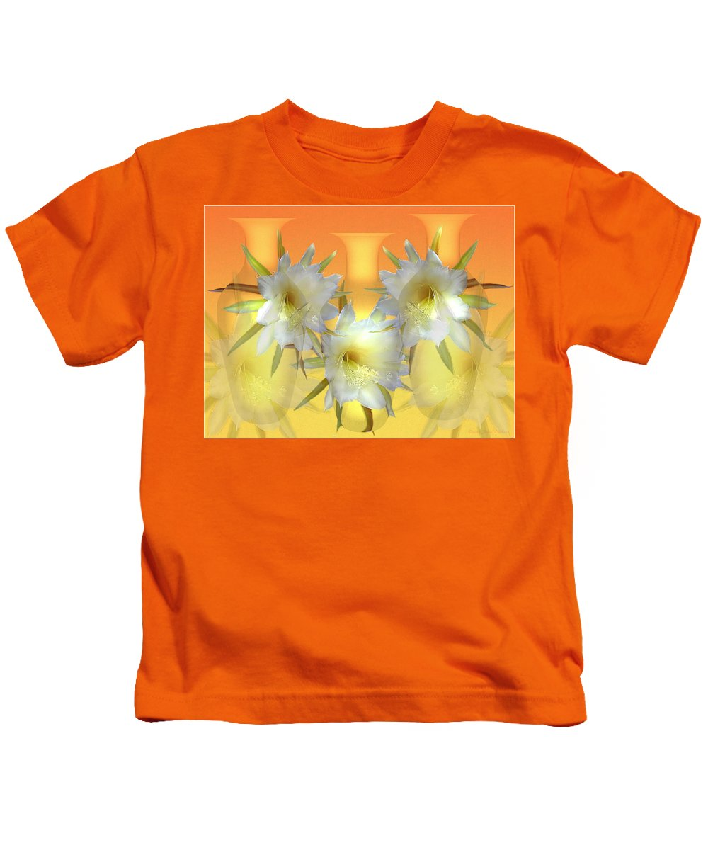Cacti Kids T-Shirt featuring the photograph Elegant Beauty by Joyce Dickens