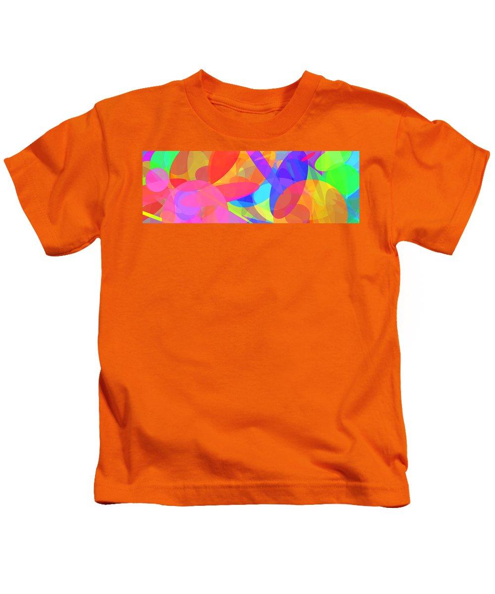 Ellipse Kids T-Shirt featuring the digital art Ellipses 9 by Chris Butler