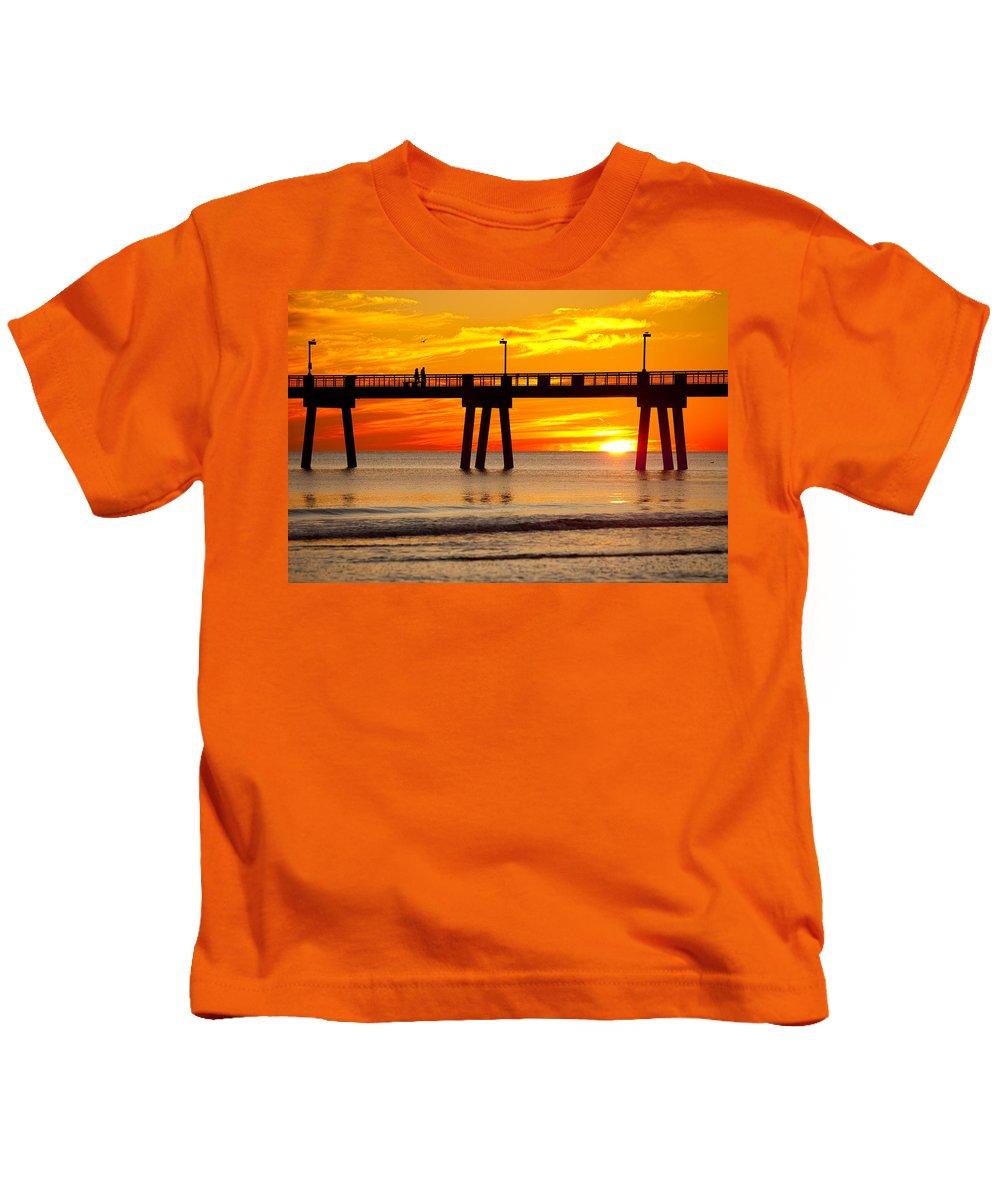 Fishing Pier Kids T-Shirt featuring the photograph Enchanted by Janet Fikar