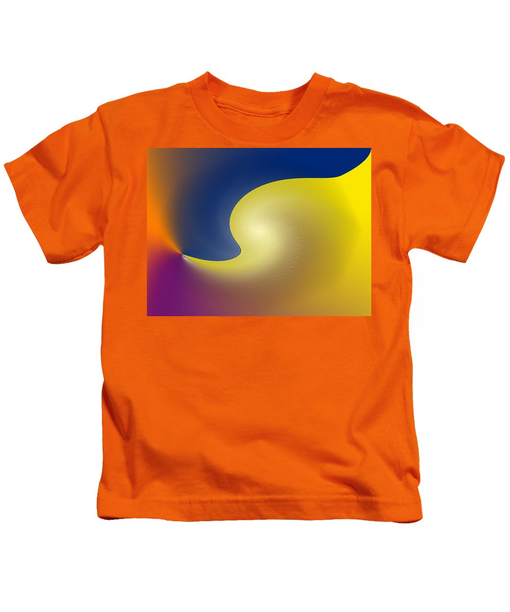 Abstract Kids T-Shirt featuring the digital art Encroaching by Ian MacDonald