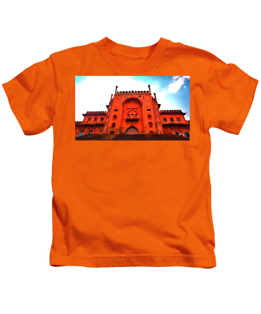 Architecture Kids T-Shirt featuring the photograph #Entrance Gate by Aakash Pandit