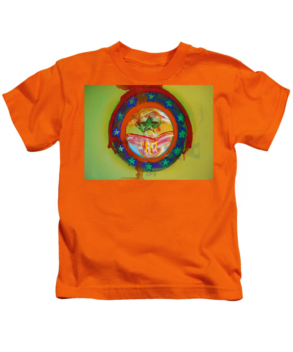 Kids T-Shirt featuring the painting European Union by Charles Stuart