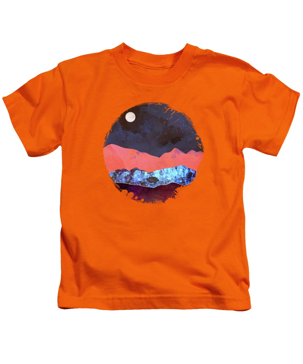 Moon Kids T-Shirt featuring the digital art Evening Moon by Spacefrog Designs