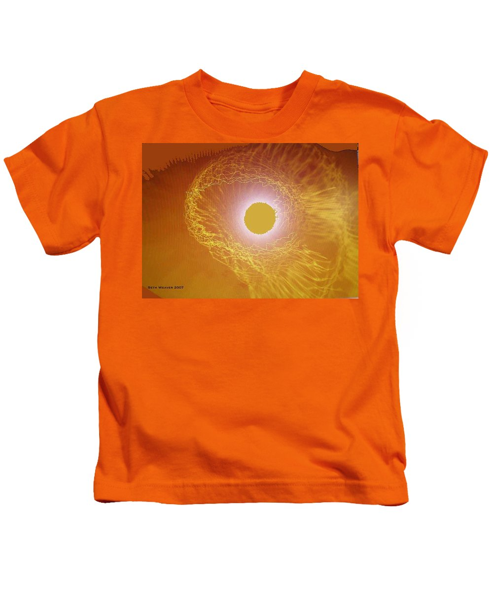 The Powerful Gaze Of The Almighty. Destroying Evil With His Almighty Sight. Kids T-Shirt featuring the digital art Eye Of God by Seth Weaver